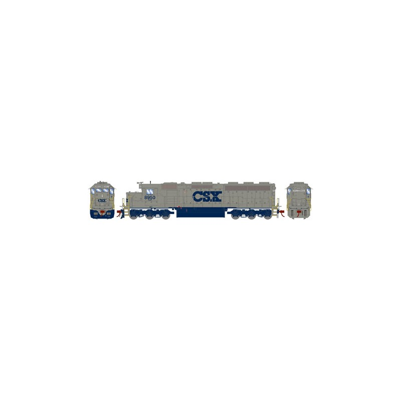 HO SD45-2 CSX/Solid Grey 8950 (DCC)_52856