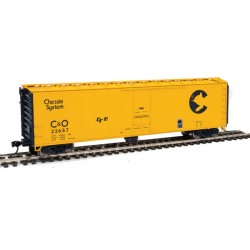 HO PC&F 50' Insulated Boxcar C&O 22657_53100