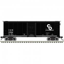 O 2RL 40' 1937 AAR sgl door box car C&O 11735_53185