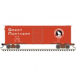O 2RL 40' 1937 AAR sgl door box car GN 11407_53188