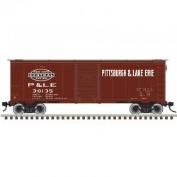 O 2RL 40' 1937 AAR sgl door box car P&LE 30135_53195