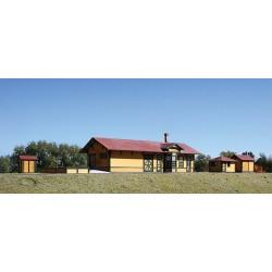 HO Santa Fe Branchline Station Combo (Laser-Cut Wo_53531