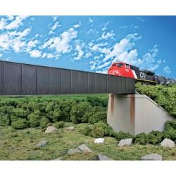 HO 90' Single-Track Railroad Through Girder Bridge_53572