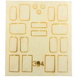 Laser-Cut Window Set - Kit Fits Atlas GE B23-7/B30_53822