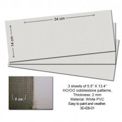 HO Embossed PVC Sheets (Cobblestone ) (3 Stk)_53845