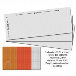 HO Embossed PVC Sheets (Roof Tiles) (3 Stk)_53854