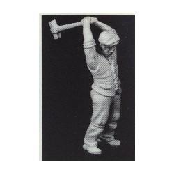 PHO-102 1:43 Figuren unbemalt, Arbeiter m:Axt_55107
