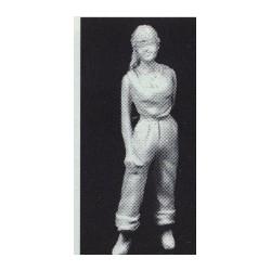 PHO-105 1:43 Figuren unbemalt, Girl mit Ponytail_55110