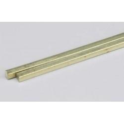 Messing Vierkantprofil 2,4 x 2,4 x 300 mm_55222