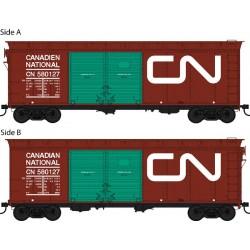 HO 40ft Box Car CN Noodle Lumber Loading 580146_55250