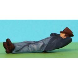 2301-A103 Arbeiter am Boden schlafend