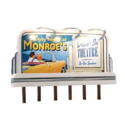 Lighted Billboard - Just Plug(R) Monroe's Drive-In_55492