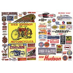 HO Motorcycle & Auto signs 1900-1960s_55520