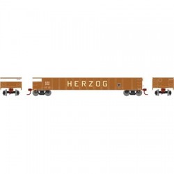 HO 52' Mill Gondola Herzog 3901_55881