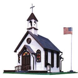 """HO Town Church Kit - 5 x 6"""" 12.8 x 15.3cm_55961"""