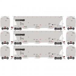 HO Trinity 3-bay covered hopper NS (3-Pack) Set 2_56208