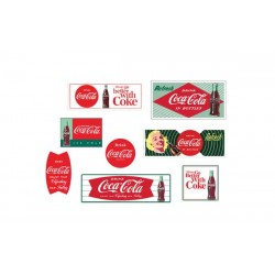 HO Building Signs Pack Coca-Cola - 8 Different Pri_56453