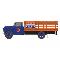 HO 1955 Chevy Stakebed Truck - Union 76 (blue, ora_56457