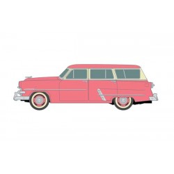 HO 1953 Ford Customline Station Wagon Flamingo Red_56493