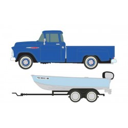 HO 1957 Chevy Step-Side Pickup Truck with Fishing_56507
