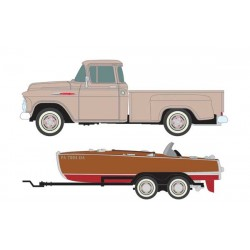 HO 1957 Chevy Step-Side Pickup Truck with Fishing _56509