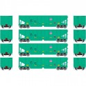 HO 40' 3-bay ribbed hopper UP (4 Wagen) Set 1_56670