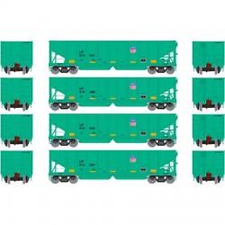 HO 40' 3-bay ribbed hopper UP (4 Wagen) Set 2_56683