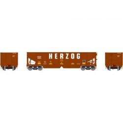 HO 40' 3-bay ribbed hopper Herzog 9864_56698