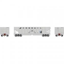 HO 40' 3-bay ribbed hopper Conrail 50736_56702