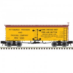 HO 36' Wood Reefer Pittsburgh Provision and 1243_57028