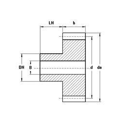 9-105.12090-5 Stirnzahnrad Messing Modul 0.5 mm_57048