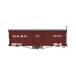 HOn3 Box Car Denver & Rio Grande Box Bausatz_57055