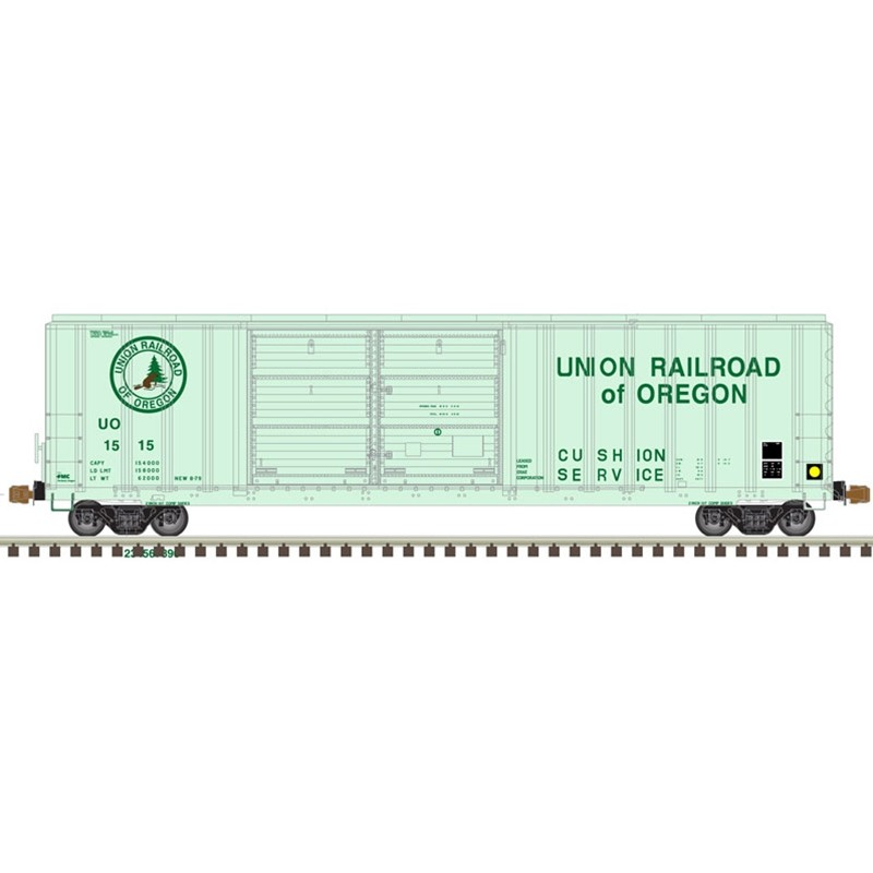 HO FMC 5077 dbl door box car UR of Oregon 1522_57083