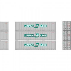 HO 40' Smooth Side Container (3-Pack) Japan Line_57200