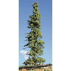 Pine Tree w/Real Wood Trunk Lodge Pole Green 25cm_57278