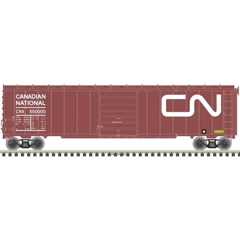 HO 50' sgl door postwar box car Canadian N. 550000_57352