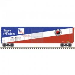 HO 50' sgl door postwar box car NP 313555_57354