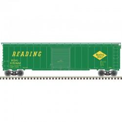 HO 50' sgl door postwar box car Reading 115349_57358