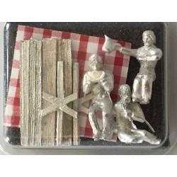 HO Picknick Set 3 Pers. 1 Tisch 2 Bänke +Tischtuch_57419