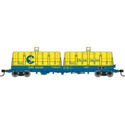 HO 50' Cushion Coil Car Chessie System C&O 306252_57581