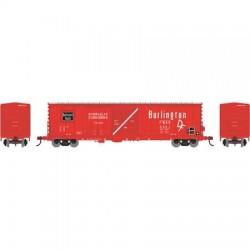 HO 50' Combo door box Car CB&Q 5022_57657
