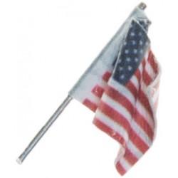 "Wall-Mount U.S. Flag - Medium 1-3/8"" 3.4cm_58230"