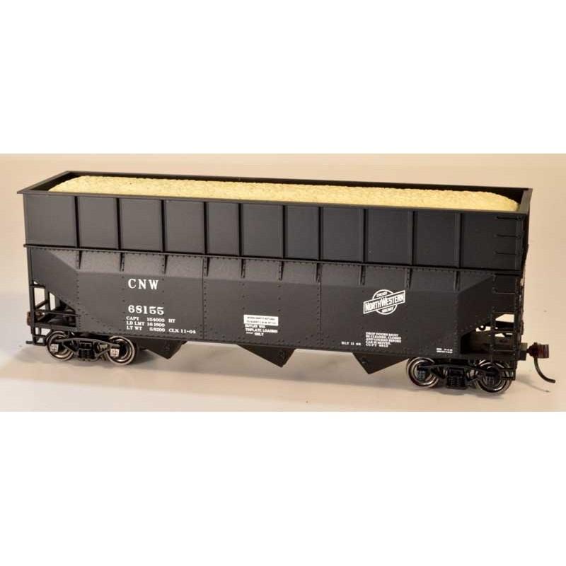 HO 70t wood chip hopper C&NW scrap metal 68152_58527