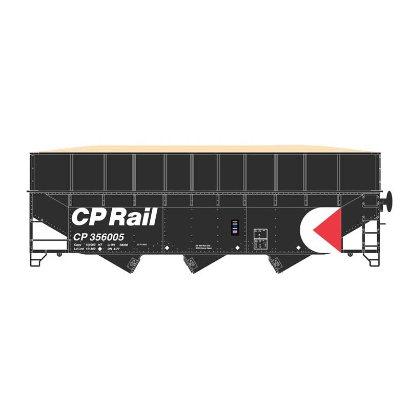 HO 70t wood chip hopper Canadian Pacific 356008_58533
