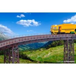 H0 Stahlträgerbrücke gebogen, eingleisig_58749