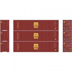 HO 40' Corrugated Container MSC (3-pack)_58812