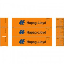HO 40' Corrugated Container Hapag-Lloyd (3-pack)_58815