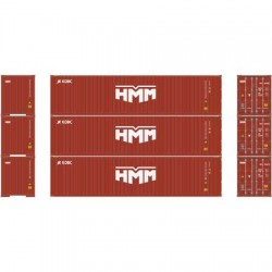 HO 40' Corrugated Container HMM (3-pack)_58816