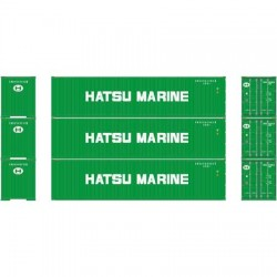 HO 40' Corrugated Container Hatsu Marine (3-pack)_58818