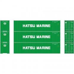 HO 40' Corrugated Container Hatsu Marine (3-pack)_58818